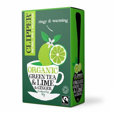 Clipper Green Tea, Lime & Ginger 20 Bags